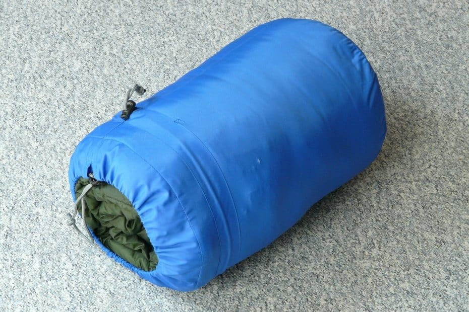 sleeping bag in a compression bag