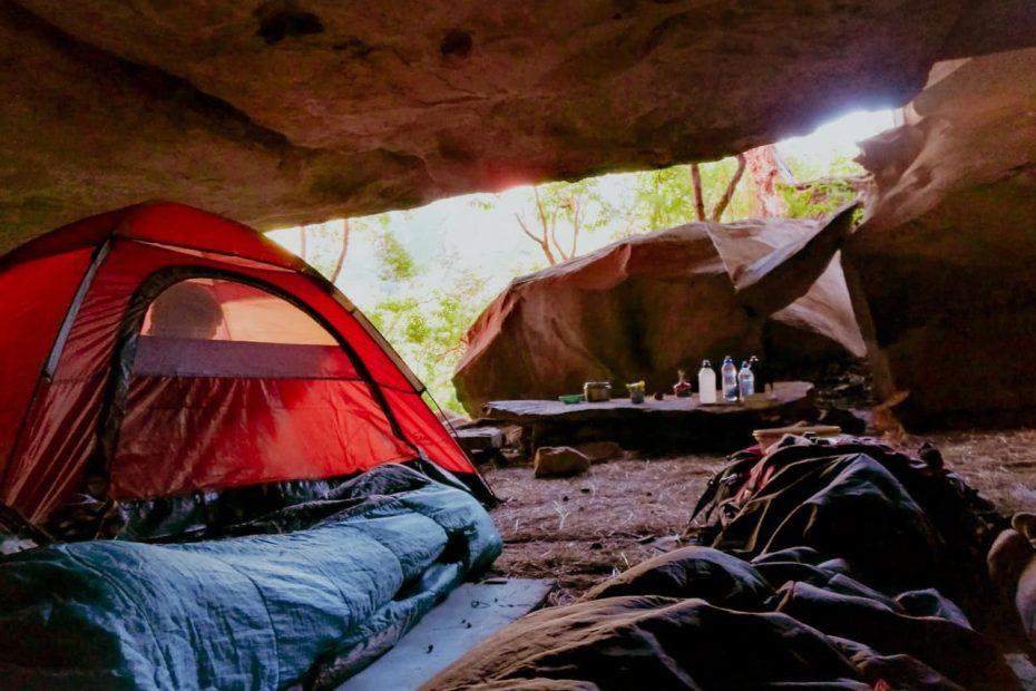 camping, tent, sleeping pad
